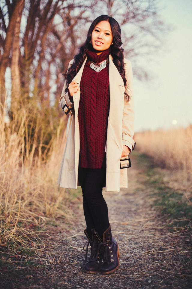 Outdoor fall style fashion Glamour Portrait Photography