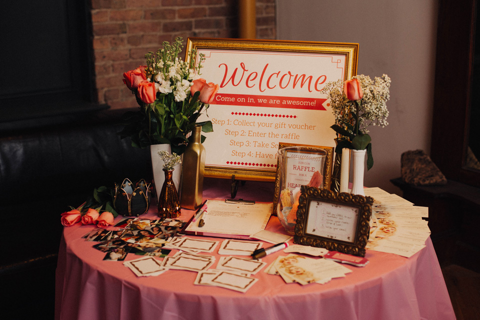 Welcome Party Sign and Table