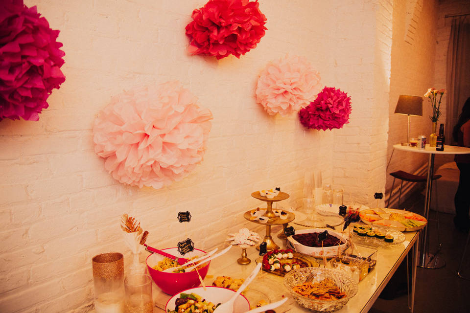 chicago photography launch party decor ideas