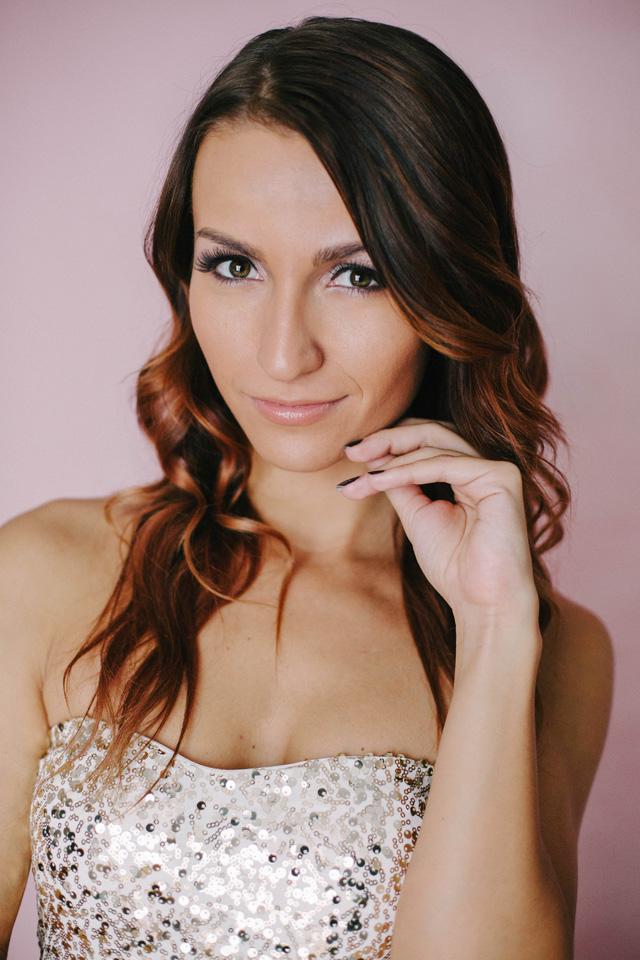 Studio Glamour Portrait Photoshoot Party Dress