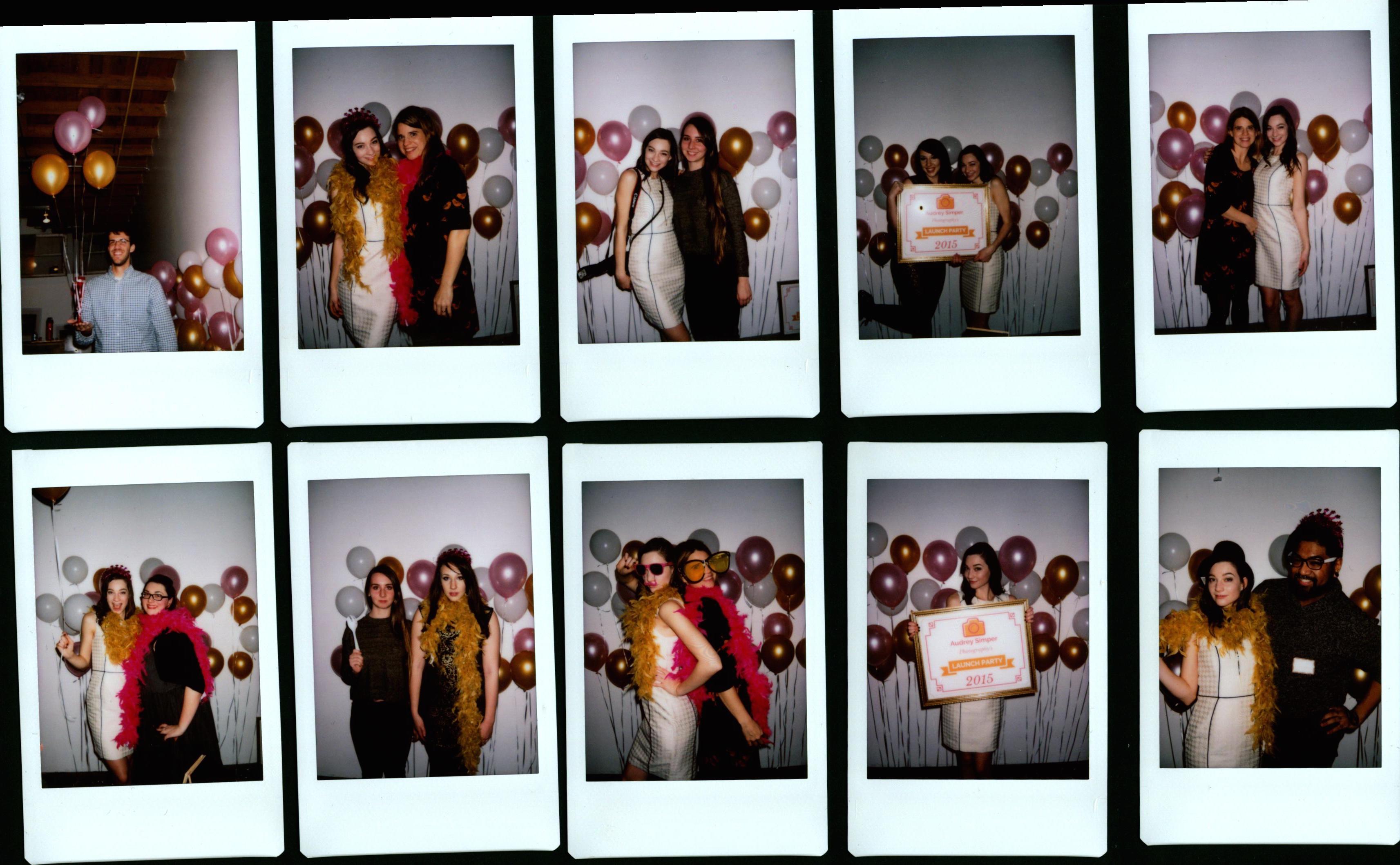 polaroid instax launch party selfie station ideas photogaphy